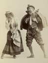 Sidney Herbert as Don Adriano de Armado and Kitty Cheatham as Jaquenetta