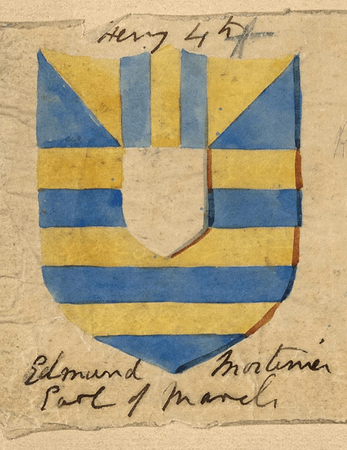 Shield design for Edmund Mortimer