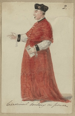 Costume design for Cardinal Wolsey