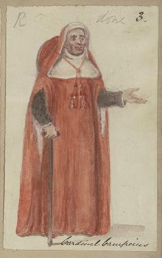 Costume design for Cardinal Campeius