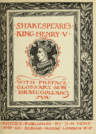 Frontpiece for J. M. Dent edition of Henry V