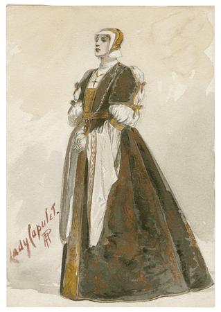Costume design for Lady Capulet