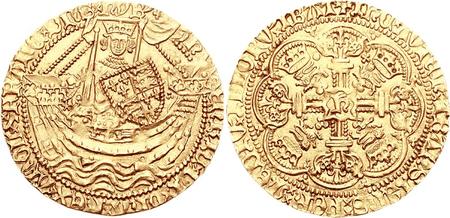 Coin bearing a representation of Henry V