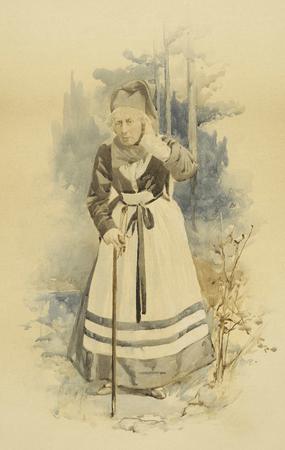 Anne Hartley Gilbert as the widow