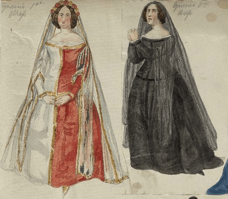 Costume designs for Richard's Queen