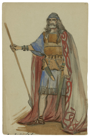 Costume designs for unspecified character in Cymbeline