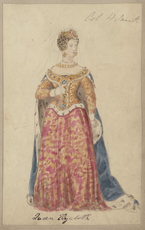 Costume design for Queen Elizabeth