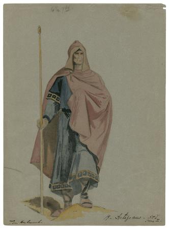 Costume design for Antigonus
