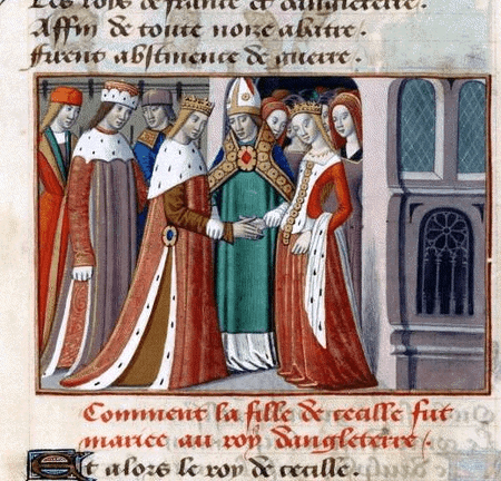 The marriage of King Henry VI of England to Margaret of Anjou