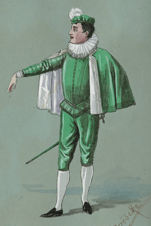 Costume design for Tranio disguised as Lucentio