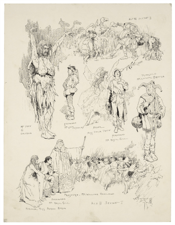 The Tempest, Act III, Scene 2, as performed at His Majesty's Theatre