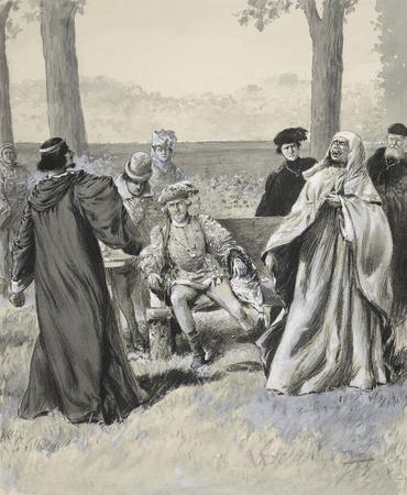 Herbert Beerbohm Tree, Oscar Asche, and William Haviland in Richard II