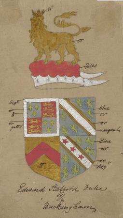 Theatrical designs for Edward Stafford, Duke of Buckingham