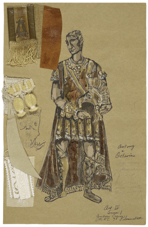 Costume design for Antony in Scassallati's production of Julius Caesar