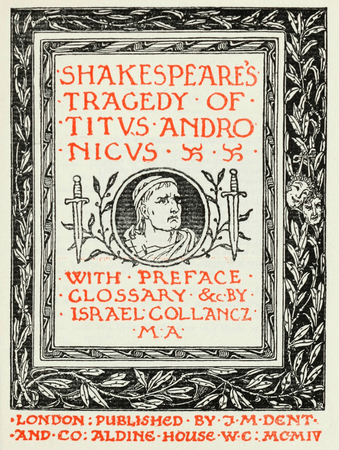 Cover page for J.M. Dent's edition of Titus Andronicus