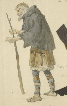 Costume design for old man