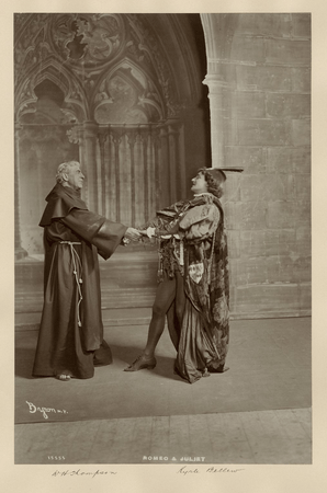 Kyrle Bellew as Romeo, W.H.Thompson as Friar Lawrence