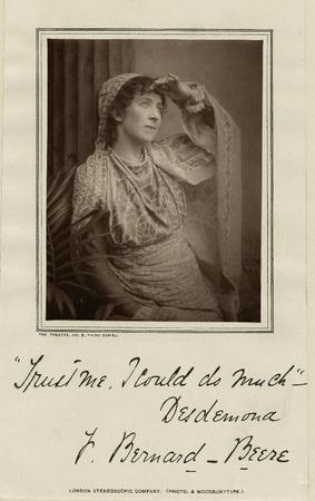 Fanny Bernard-Beere as Desdemona