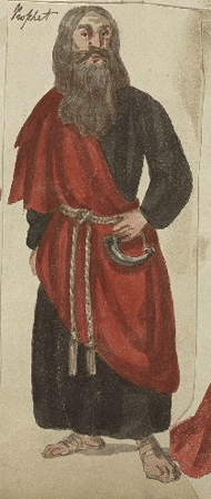 Costume design for Peter of Pomfret