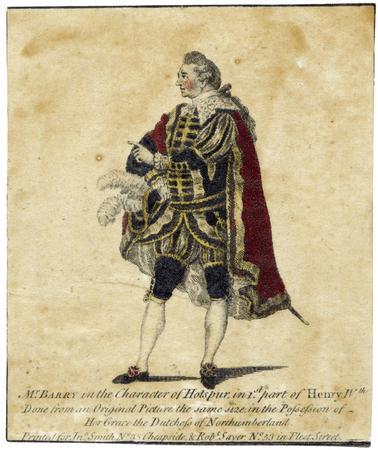 Spranger Barry as Hotspur
