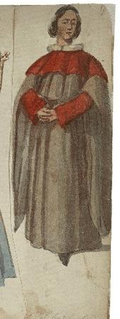 Costume design for Bishop of Carlisle