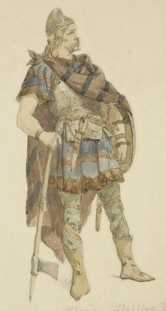 Costume design for Duke of Albany prepared for battle