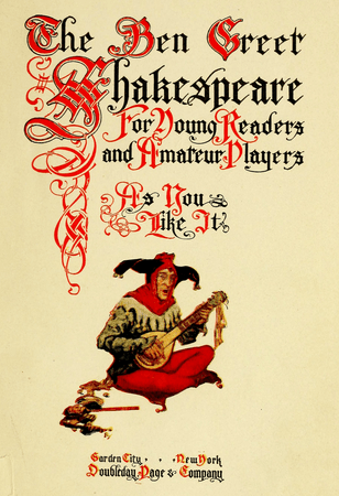 Frontpiece of Ben Greet Shakespeare edition of As You Like It