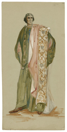 Costume design for the Viola Allen production of Cymbeline, possibly for Arviragus