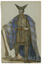 Costume design from the Viola Allen production of Cymbeline, possibly for British Lord