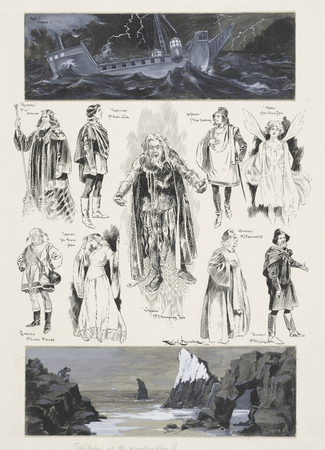 Sketches at the production of the Tempest at His Majesty's Theatre