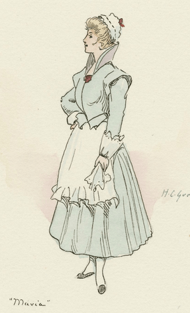 Costume sketch for Maria