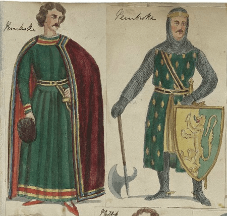 Costume designs for the Earl of Pembroke