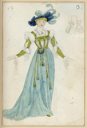 Costume for Ada Rehan as Princess of France