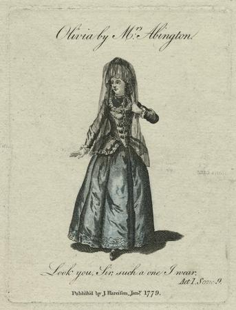 Frances Abington as Olivia