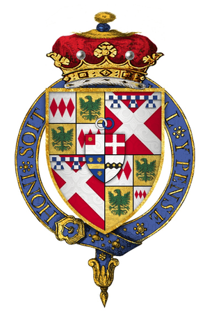Quartered arms of Sir John Nevill, 1st Marquess of Montagu, KG
