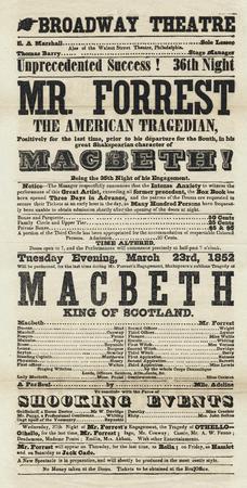 Playbill for Macbeth