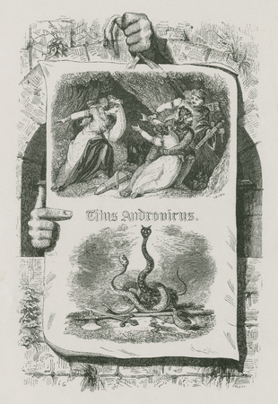 Illustration for 19th century edition of Titus Andronicus