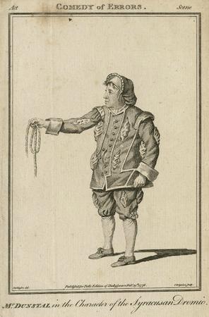 John Dunstall as Dromio of Syracuse