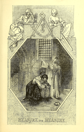 """Illustration from """"The comedies, histories, tragedies, and poems of William Shakspere"""""""