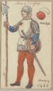 Costume design for soldier of Douglas