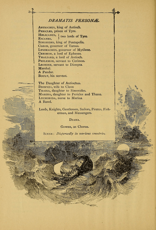 Dramatis Personae for American Book Company's edition of Pericles
