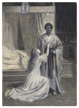 Tita Brand as Desdemona, Hubert Carter as Othello