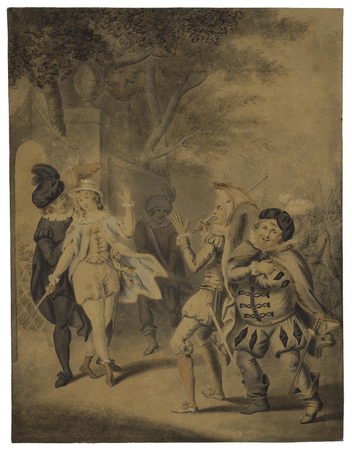 The duel between Viola and Sir Andrew Aguecheek