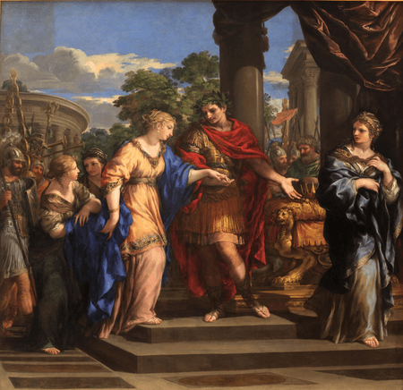 Caesar giving Cleopatra the Throne of Egypt