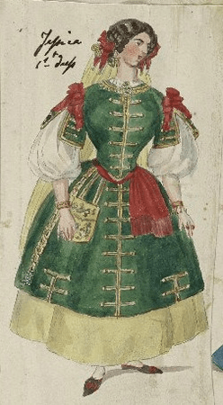 Costume design for Jessica
