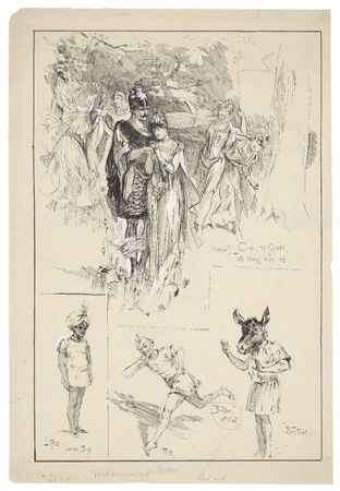Scenes and characters from A Midsummer Night's Dream