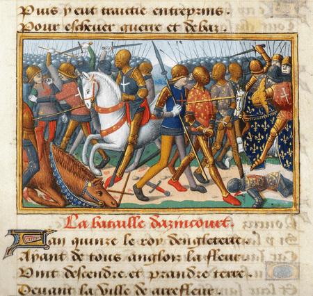 Miniature from Vigiles du roi Charles VII. The battle of Azincourt