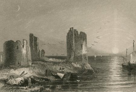 The remains of Flint Castle