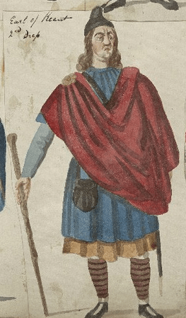 Costume design for the Earl of Kent