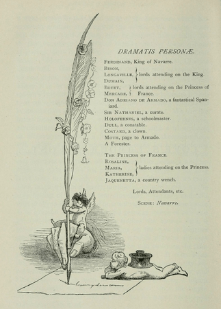 Dramatis Personae from Harper & Brothers edition of Love's Labour's Lost